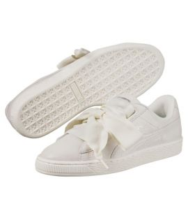 Chaussures Puma Basket Heart NS Blanc Do You Velours