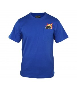 T-shirt THE HUNDREDS Bleu Peeka Adam bomb