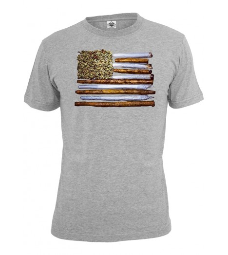 T-shirt MISTER TEE Gris States of Weed