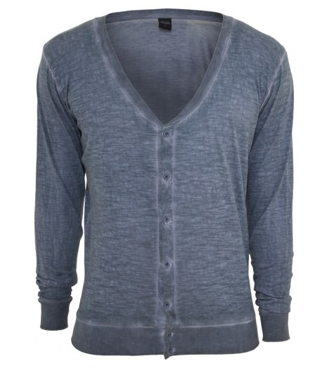 Pull Cardigan URBAN CLASSICS Spray Dye Slub Denimblue