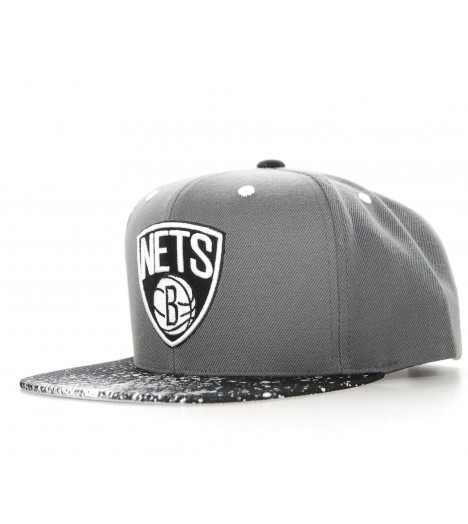 MITCHELL & NESS Snapback Brooklyn NETS Splatter