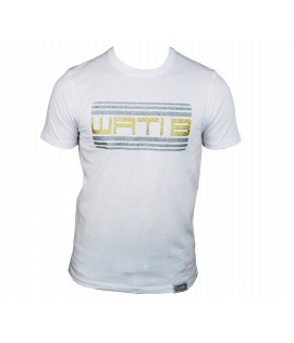 T-shirt WATI B enfant Blanc / Or Logo Paillette Rasta by Sexion d'Assaut