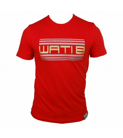 T-shirt WATI B Noir / Or Logo Paillette by Sexion d'Assaut