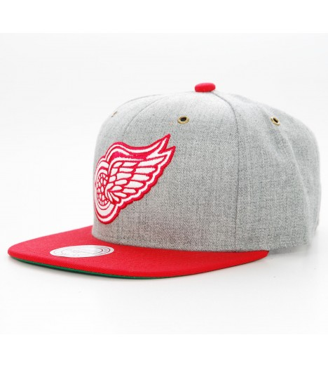 Mitchell & Ness Strapback Detroit RED WINGS Gris-Rouge Casquette NHL