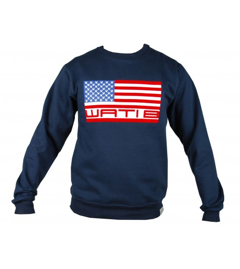 Sweat WATI B Logo USA Bleu Marine Crewneck by Sexion d'Assaut