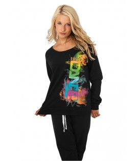 Sweat Crewneck léger URBAN DANCE Noir FUME Manche LongueT-shirt ample à manche longue URBAN DANCE Noir Multicolore