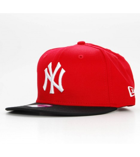 NEW ERA Kids Snapback Enfant NY YANKEES Block Rouge - Noir Casquette 9Fifty