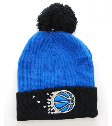 MITCHELL & NESS Bonnet Pompon DENVER NUGGETS Rouge - Bleu marine Secondary Cuff NBA
