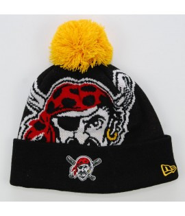 NEW ERA Bonnet Pompon PITTSBURGH PIRATES Noir - Jaune Biggie MLB
