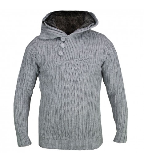 Pull CARISMA Gris clair Fashion Pull Hiver Col montant