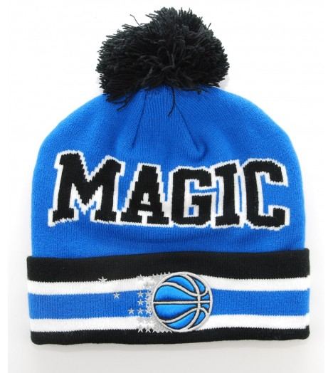 MITCHELL & NESS Bonnet Pompon ORLANDO MAGIC Bleu - Noir Tcuff NBA