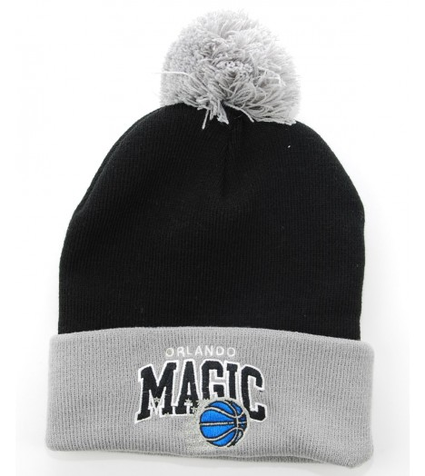 MITCHELL & NESS Bonnet Pompon ORLANDO MAGIC Noir - Gris Tarck NBA