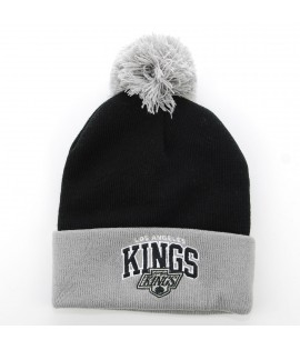 MITCHELL & NESS Bonnet Pompon LOS ANGELES KINGS Noir - Gris Tarck NHL