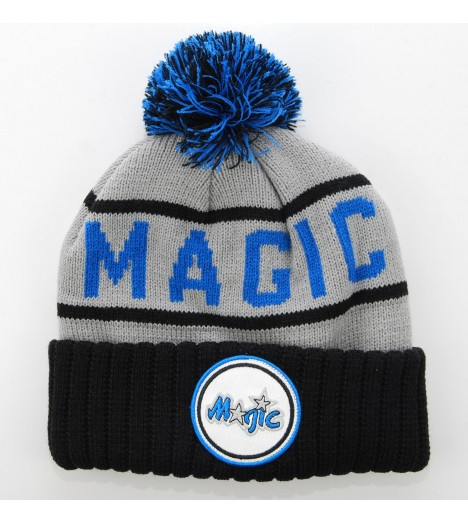 MITCHELL & NESS Bonnet Pompon ORLANDO MAGIC Gris - Noir - Bleu H5Cuff NBA