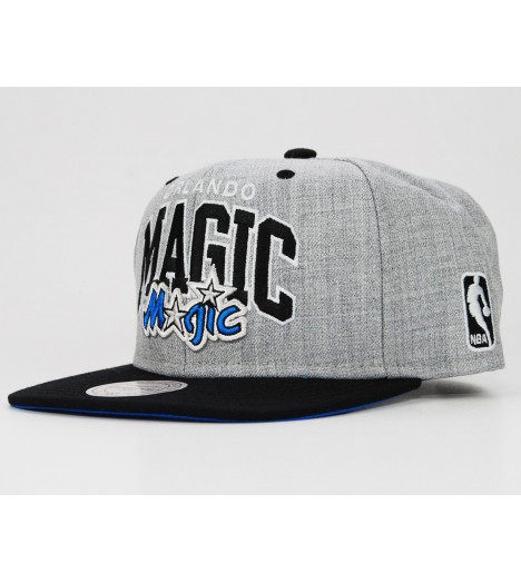 MITCHELL & NESS Snapback ORLANDO MAGIC Gris-Noir Scripop NBA EU090