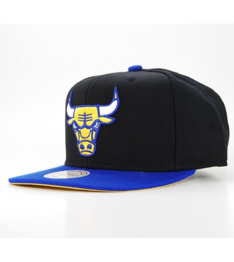 MITCHELL & NESS Snapback CHICAGO BULLS Noir - Bleu NBA Laney NX37Z