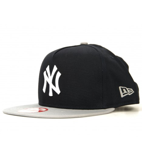 NEW ERA Snapback New York YANKEES Said Bleu marine - Gris Casquette 9Fifty