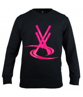 Sweat VORTEX VX Logo Noir - Rose Crewneck by Maître Gims
