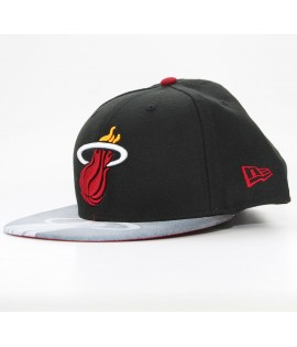 Casquette New Era 59Fifty Miami Heat Noir - Gris Viza Sketch