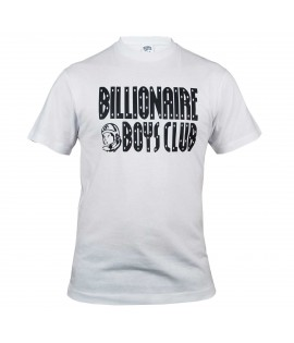 T-shirt Billionaire Boys Club Straight Logo Blanc BBC by Pharrell