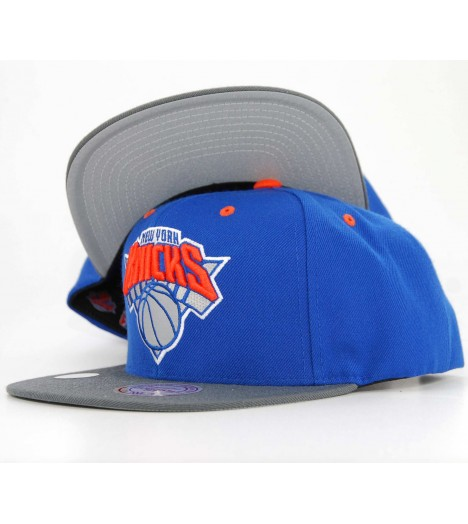 Casquette Mitchell & Ness Snapback New York Knicks Visière 3M Reflechissant