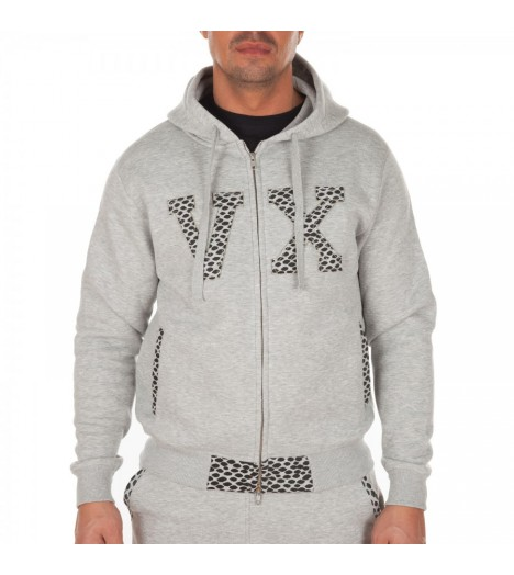 Sweat capuche VORTEX VX PU Zip by Maître Gims