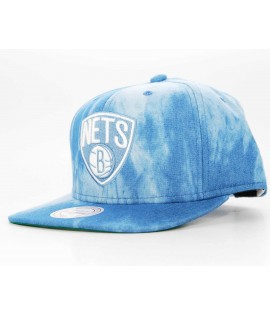 Casquette Mitchell & Ness Snapback Brooklyn Nets Bleu denim