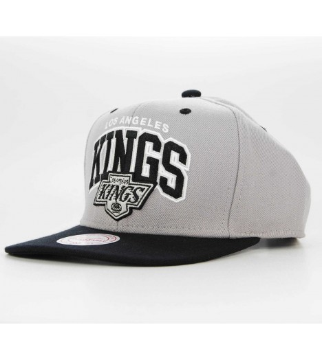 Casquette Mitchell & Ness Snapback Los Angeles Kings Double Up Gris