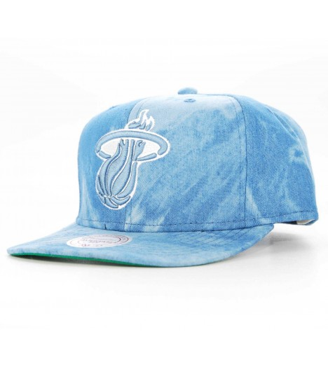 Casquette Mitchell & Ness Snapback Miami Heat Bleu denim Dyed