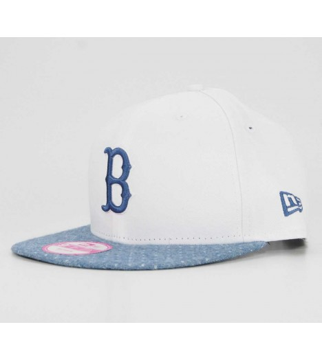 NEW ERA Snapback Femme Boston Redsox Spotty Blanc-Bleu Casquette 9Fifty