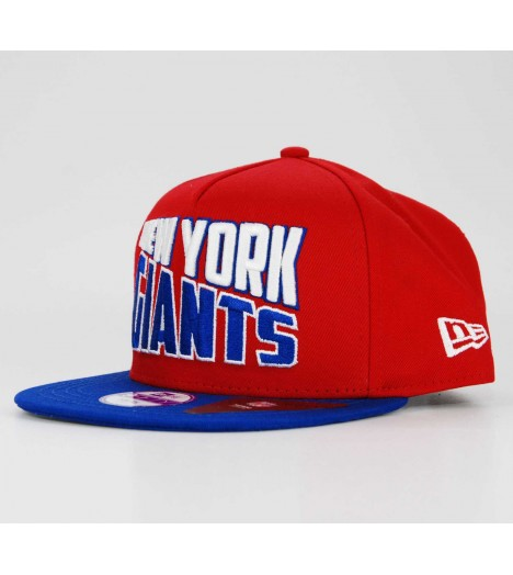 Casquette Enfant New Era Snapback NY GIANTS Rouge-Bleu Arch 9Fifty