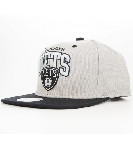 Casquette Mitchell & Ness Brooklyn Nets TonArch Snapback Gris