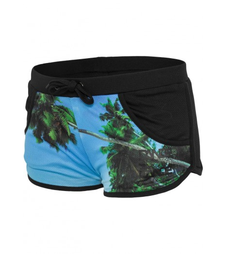 Mini-short Hawaii Urban Dance Beach Hot Pant Bleu Hawai