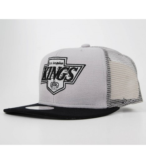 Casquette Mitchell And Ness Trucker Los Angeles Kings Gris Neoprene Snapback