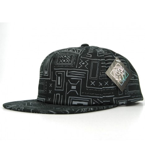 THE HUNDREDS Snapback Geometric Noir Casquette