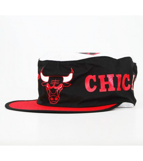 Casquette de peintre MITCHELL & NESS Chicago Bulls Noir Rouge Flexfit Painter