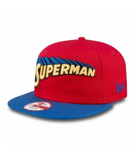 Casquette New Era Superman Hero Mark Rouge Bleu Snapback