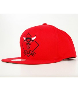 Casquette Mitchell & Ness Chicago Bulls Arch Diamond Snapback Rouge