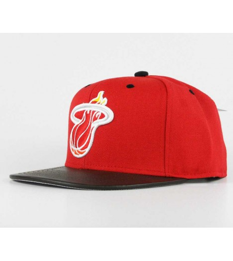 Casquette Mitchell & Ness Snapback Miami HEAT Rouge Legacy