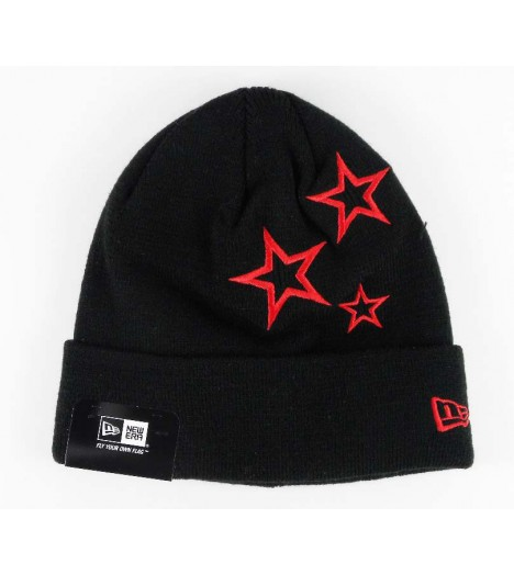 Bonnet NEW ERA Stars Noir Rouge