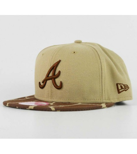 Casquette New Era Atlanta Braves Camouflage Brun Safari Snapback