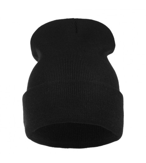 Bonnet Long Noir Premium Black Beanie