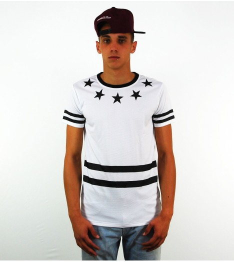 T-shirt Project X 78 Stars Blanc Mesh Football US