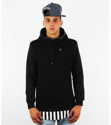 Sweat Capuche Project X Noir Oversize Manches Diamond
