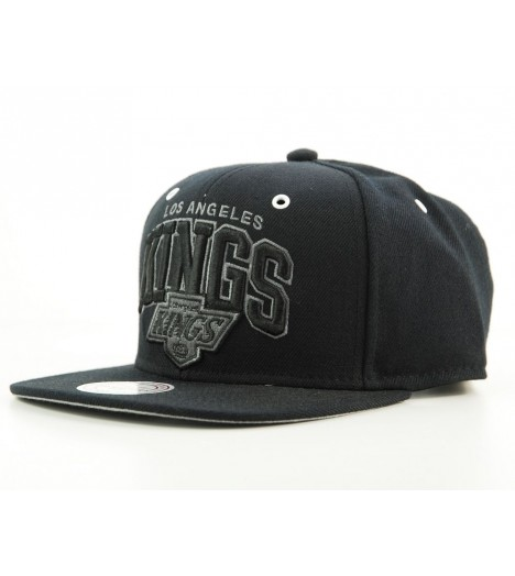 Casquette Mitchell & Ness Snapback Los Angeles Kings Noir All Black