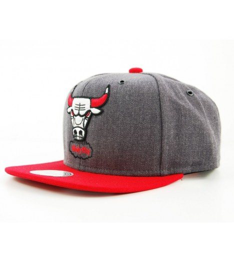 Casquette Snapback Chicago Bull Gris x Mitchell & Ness