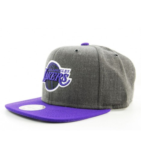 Casquette Snapback Los Angeles Lakers Gris x Mitchell & Ness