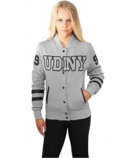 College Jacket Urban Dance UDNY Gris Noir