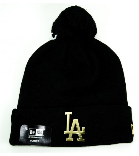 Bonnet Pompon Femme NEW ERA LA Dodgers Noir-Or MLB