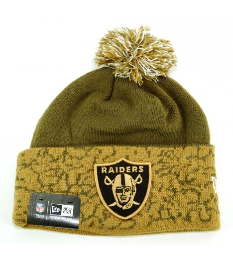 Bonnet Pompon NEW ERA Oakland Raiders Brown NFL